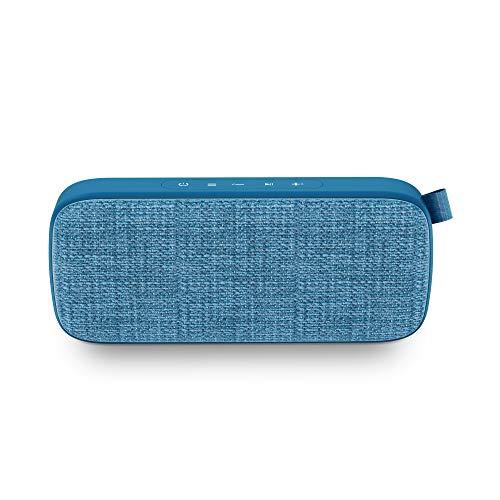 Energy Fabric Box 3+ Trend Blueberry - Altavoz portátil (TWS, Bluetooth v5.0, 6W, USB&microSD MP3, FM Radio, Audio-In), Color Azul