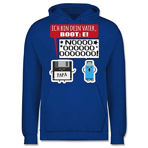 Shirtracer Nerds & Geeks - Ich Bin Dein Vater Boot: E Diskette und USB Stick - XXL - Royalblau - JH001 - Herren Hoodie - Oversize-rechner