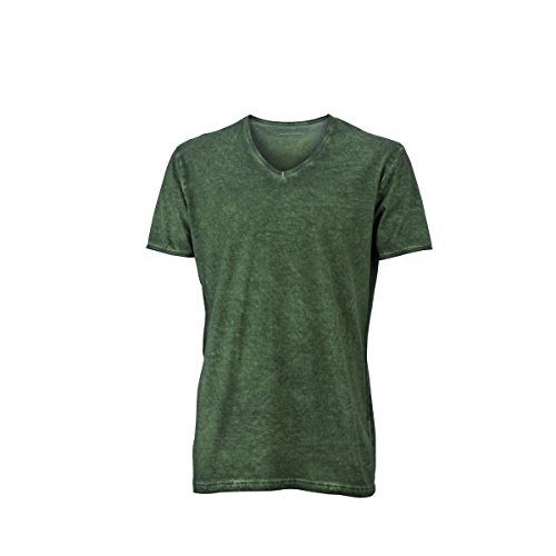 JAMES & NICHOLSON Herren T-Shirt, Einfarbig vert olivacé