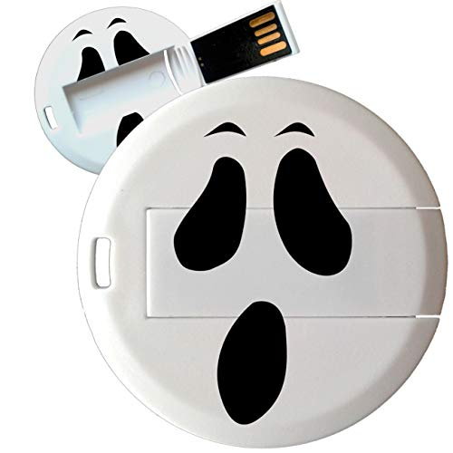My Custom Style Pen Drive USB Kollektion #Halloween_A#4/8/16 Gb Coin Card_8 GB Halloween-Fantasma (De Fantasmas Halloween)