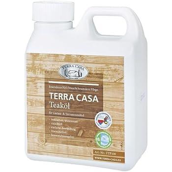 Teaköl 1 Liter Pflege-Öl Teakholz teakfarben seidenmatt Teak-Oel 1000 ml