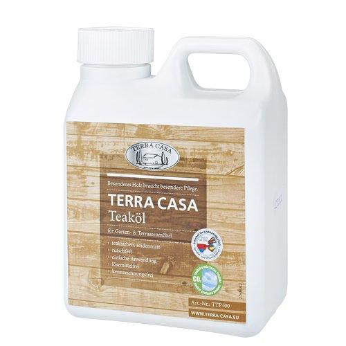 Preisvergleich Produktbild Teaköl 1 Liter Pflege-Öl Teakholz teakfarben seidenmatt Teak-Oel 1000 ml