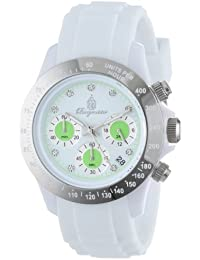 Burgmeister Damen-Armbanduhr Chronograph Quarz Silikon BM514-586A