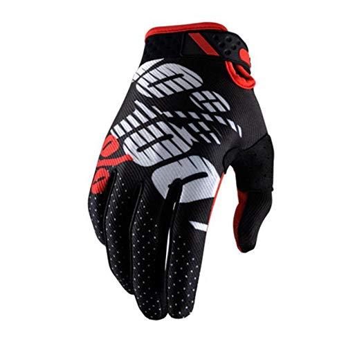 Warm your hands &World Guanti da Motocross da Uomo e da Donna, Nero M