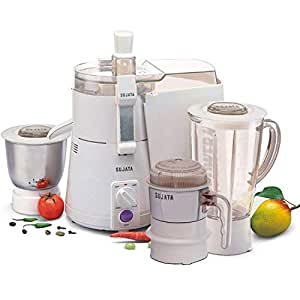 Sujata Powermatic Plus with Free Chutney Jar 900-Watt Juicer Mixer Grinder (White)