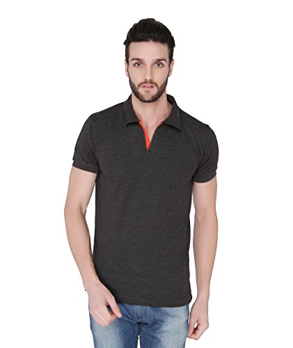 Joke Tees Solid Men's Polo T-Shirt (Anthra Milange) (XXX-Large)