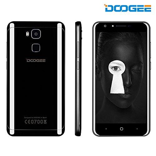 DOOGEE Y6 Piano Black Smartphone, Cellulare Android 6.0 Dual Sim - Telefono Cellulare 4G con Schermo 5.5