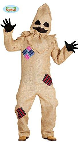 Halloween Sack Kostüm für Herren Jute Monster Sackmensch Horror Vogelscheuche Gr. M/L, Größe:L