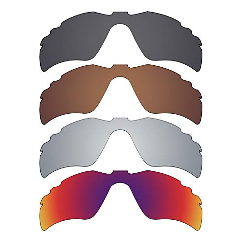 Mryok polarisierte Ersatzgläser für Oakley Radar Path Sonnenbrillen mit Belüftung - Stealth Black/Bronze Brown/Silver Titanium/Midnight Sun