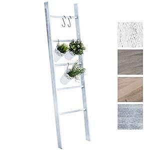 CLP Escalera de Decoración Mariette I Escalera Decorativa de Madera con 5 Peldaños I Toallero en Estilo Rústico I Color…