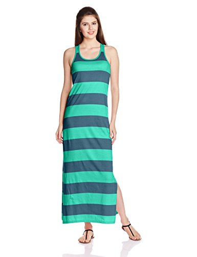 People Women's Cotton A-Line Dress (P20401064848119_Blue Wave_S)  available at amazon for Rs.599