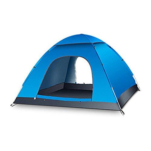 Blueidea® Esterna Automatica Tenda da Campeggio Velocità Aperto Tenda 3-4 Persona Impermeabile Antivento Lanciare Tenda de Spiaggia Pop Up (Blu)