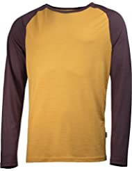 Lundhags Merino Light Raglan Shirt Men Gold/Acaj 2017 Langarmshirt