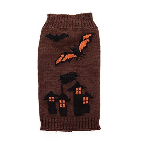 Amosfun Halloween Hundebekleidung Haustier Fledermaus Druck Pullover Halloween Kostüm für Hund