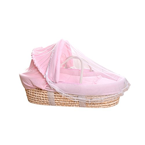 ALUK- 0-1 Ans Moses Basket, Newborn Voiture Portable Baby Basket, 0-18 Mois Panier de Couchage Lit Berceau Lit bébé (Couleur : Package A)