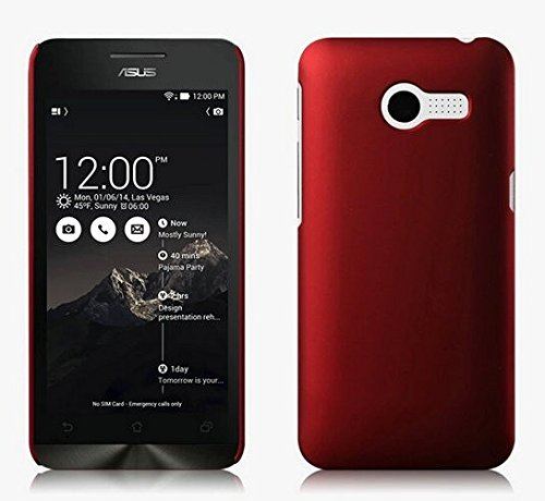 ImagineDesign WOW Rubberised Matte Hard Case Back Cover For Asus Zenfone 4 (Maroon Wine Red)  available at amazon for Rs.169