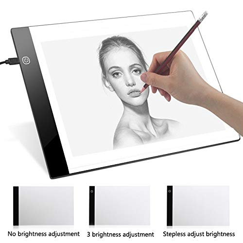 XYao Leuchtkasten Digitale Grafiktablett A4 Led Künstler Dünne Kunst Schablone Reißbrett Leuchtkasten Tracing Writing Tragbare Elektronische Tablet Pad -