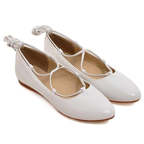TAOFFEN Femmes Lacets Escarpins white