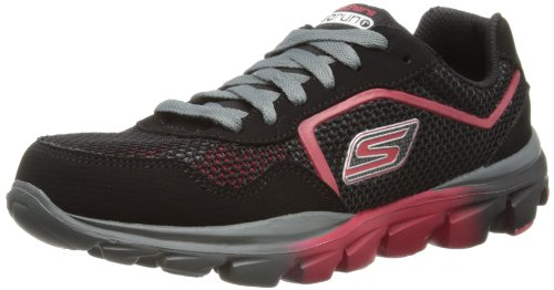 Skechers GO Run Ride Supreme, Jungen Sneakers, Schwarz (BKRD), 27.5 EU