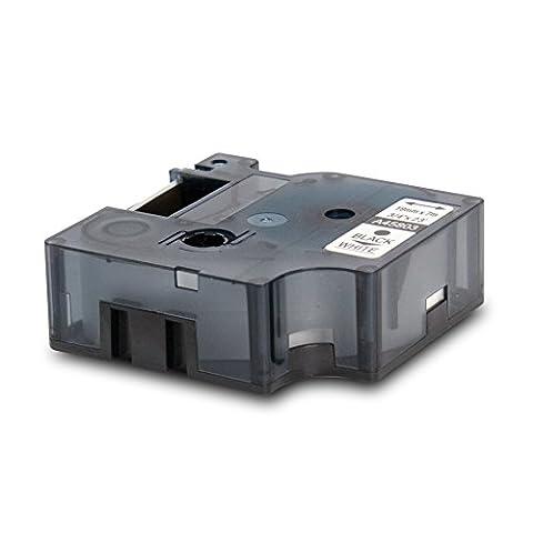 Schriftband kompatibel zu DYMO D1-Band / 45803 | schwarz auf weiß / 19mm x 7m | geeignet für DYMO LabelPOINT & LabelManager LM300 / LM350 / LM400 / LM260P / LM350D / LM360D / LM420P / LM450 / LP350 / LP150 / LP250 / LP300 / LP350 / PC / PC2 / PnP / PnP WiFi / LW400 Duo / LW450 Duo