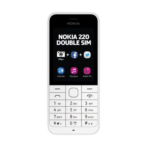 Nokia 220Handy entsperrt 2.4Zoll Dual SIM (Nokia-handy Dual-sim Entsperrt)