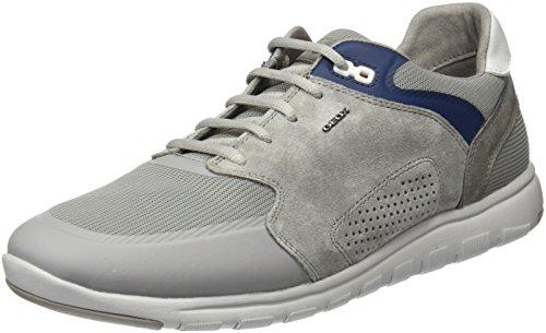 Geox u xunday 2fit c, scarpe da ginnastica basse uomo, grigio (icec1003), 44 eu