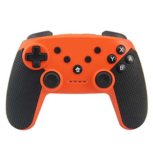 Gamepad für PC Controller Android TV Box Tablet Bluetooth-Gaming-Controller Wireless Bluetooth Controller Griff Gaming Pad Joystick für Nintendo-Schalter,Plug & Play Competition Gaming (Orange) (Pad-schalter)