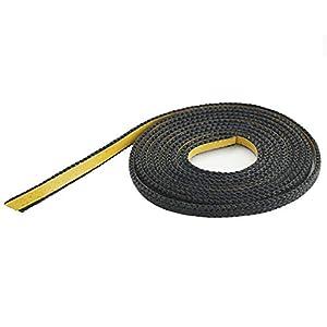 Glasband schwarz 10x2 flach Beutel á 2m
