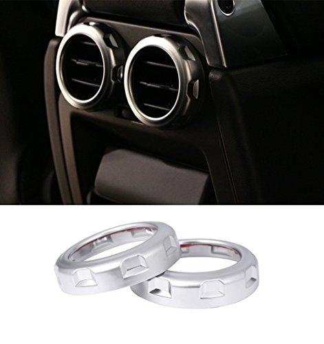 tyling hinten AIR OUTLET Vent Ring Trim Aufkleber ABS Chrom Interieur (2014 Range Rover Auto)