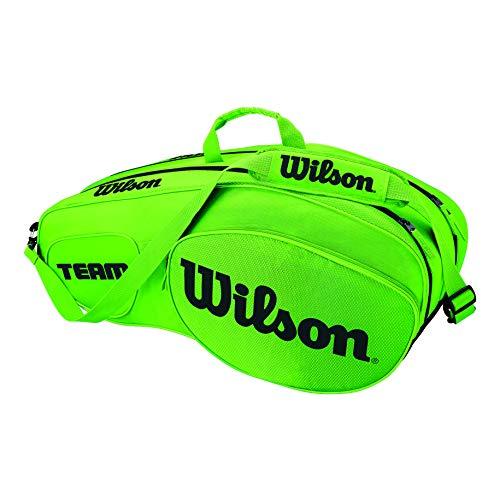 Wilson Damen/Herren Tennis-Tasche, für Profispieler, Team III 6 PK, Einheitsgröße, grün/schwarz, WRZ854806
