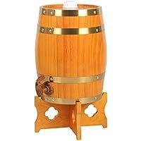 Barril de vino Multifuncional Vino Botte di Rovere, 3L-30L Vino Bianco Botte di Vino Rosso Decoración del hogar Botte di Vino Botte di Birra Colore del legn (Color : D, Tamaño : 20L)