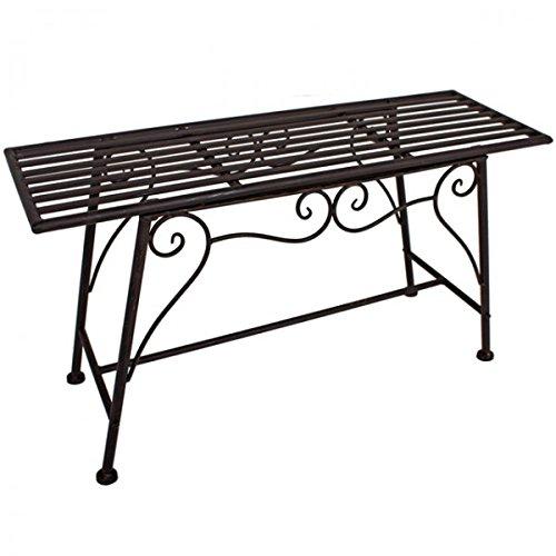 De 2plazas metal jardín banco sin respaldo aspecto oxidado metal banco de hierro Park Banco muebles nuevo