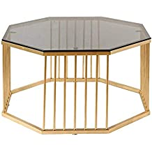 Amazon Fr Table Basse Ronde Or