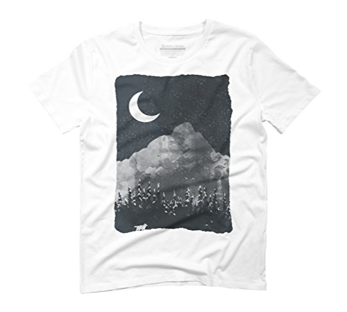 Winter Finds the Wolf... Men's Graphic T-Shirt - Design By Humans White