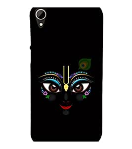 printtech Lord Krishna Beautiful Eyes Back Case Cover for HTC Desire 828 dual sim
