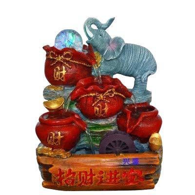 SPYXGS Kleine Elefanten Dekorative Ornamente Handwerk Harz Brunnen Wasser-Wie Segen Tasche Festliches Hochzeitsgeschenk