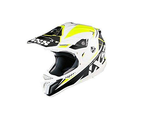 Motocrosshelm IXS HX 179 FLASH weiss-schwarz-gelb Gr.XS