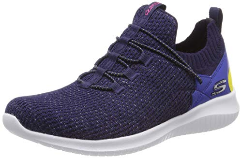 Skechers Damen Ultra Flex-More Tranquility Sneaker, Blau (Navy Mint Nvmt), 41 EU Schuhe Slip
