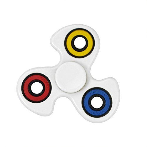 Starcrafter Fidget Spinner Spinner Fidget Juguete Ultra Durable Finger Spinner Alivie su Estrés, Ansiedad y Aburrimiento para Niños y Adultos (Blanco) - El color del círculo pequeño es aleatorio