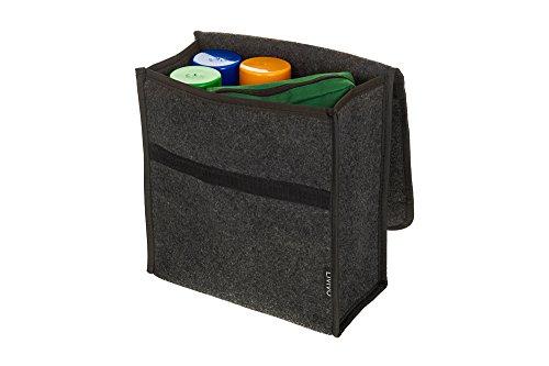Kofferraum-Organizer von LIVIVO®, mit sicherem Klettverschluss, Umschlagtasche, mit Haken und Schlingen fest am Kofferraum fixierbar, zur Aufbewahrung von Werkzeugen, Zubehör, Karten, Winterausstattung und Kinderspielzeug (Auf Tragen Canvas)