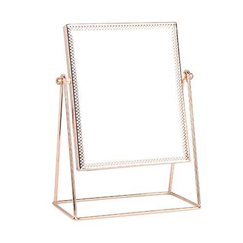 Espejo para maquillarse Princesa de metal soporte de sobremesa espejo enmarcado personal de maquillaje...