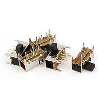 5 Pcs 3 Position DP3T 8 Solder Lug Pin PCB Panel Mount Slide Switch