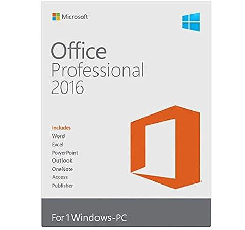 Microsoft Office Professional 2016 für 1 PC - Neu &