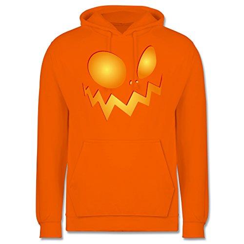 esicht groß Pumpkin - XS - Orange - JH001 - Herren Hoodie (Lustige College-halloween-kostüm)