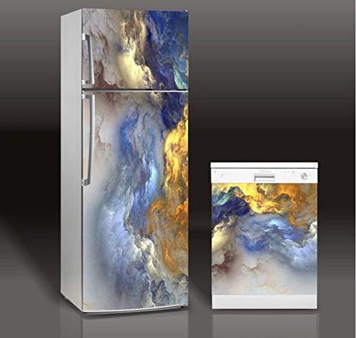Abnehmbare 3d Kühlschrank Aufkleber Kunstherd Dame Kühlschrank Geschirrspüler Tür Abdeckung Küche Dekoration Zubehör Moderne Wandaufkleber 60 * 150 cm - Schritt Geschirrspüler 2
