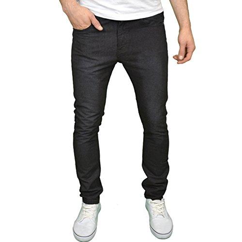 SoulStar Herren-Denim-Jeans, Slim-Fit, Designer-Marke, schwarz Gr. 40, Black Blast (Blast Jeans Denim)