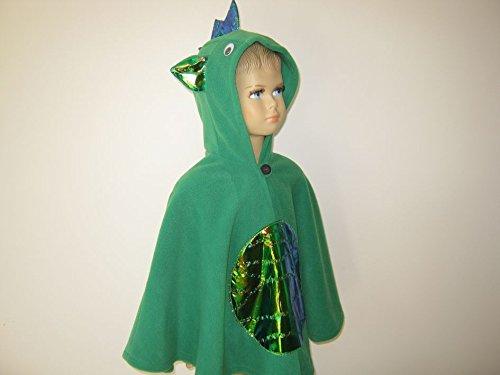 fasching karneval halloween kostüm cape für kleinkinder drache grün