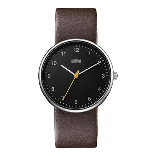 Braun BN0231BKBRGAL - Reloj análogico de cuarzo con correa de cuero para hombre, color marrón/negro