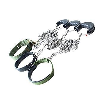 AMDXD Collier de Harnais 3mmx4m Acier Inoxydable Harnais Laisses Set pour Chien Colliers&Laisses 3mmx4m