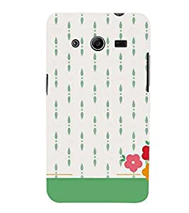 Printvisa Flowers In A White Background 3D Hard Polycarbonate Designer Back Case Cover For Samsung Galaxy Core 2 G355H (White)